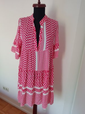 New Collection italy Tunic Dress white-pink