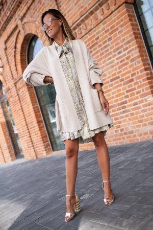 Bastet Sukienka tunika oliwkowy-bladozielony