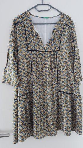 Benetton Sukienka tunika Wielokolorowy
