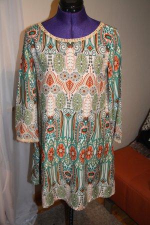 Tunikakleid/Bluse gemustert#Ibiza Style#Boho#Ethno#Strandkleid Größe S