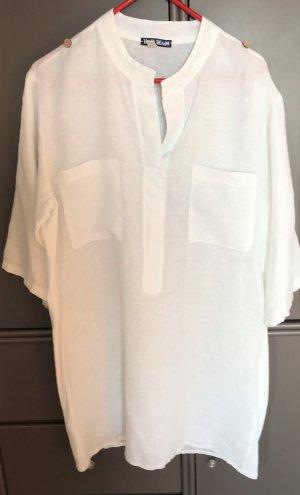 Robe tunique blanc lin