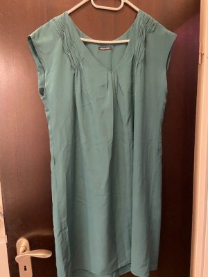 Massimo Dutti Vestido tipo túnica verde Seda