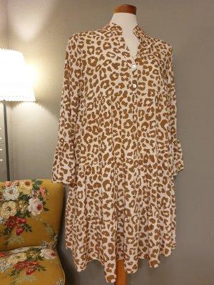 Zwillingsherz Sukienka tunika jasnobrązowy-w kolorze białej wełny