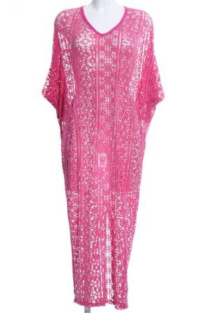 Vestido tipo túnica rosa look Street-Style