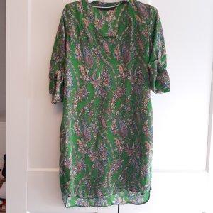 Zara Basic Vestido tipo túnica multicolor