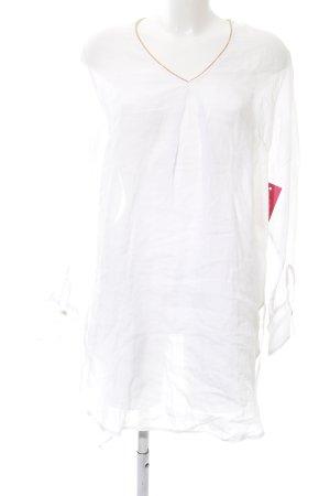 Tunikakleid wollweiß-nude