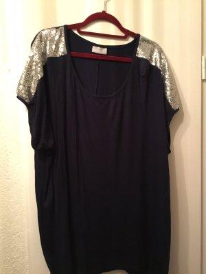 Janina Shirt Tunic black-silver-colored