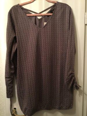 Gina Benotti Camisa tipo túnica marrón grisáceo