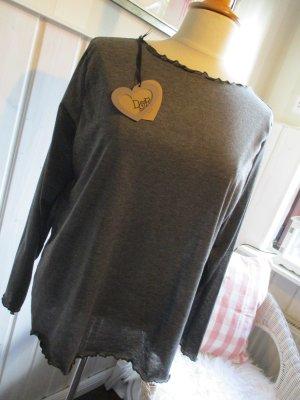 Camicia a tunica antracite-grigio scuro Viscosa