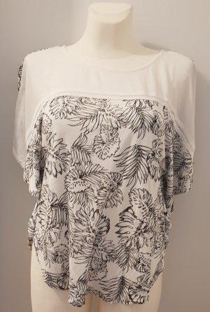 Street One Camicia a tunica nero-bianco sporco