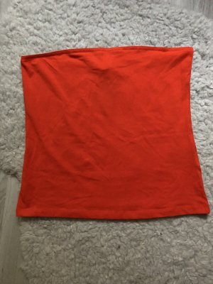 H&M Off the shoulder top rood-lichtrood