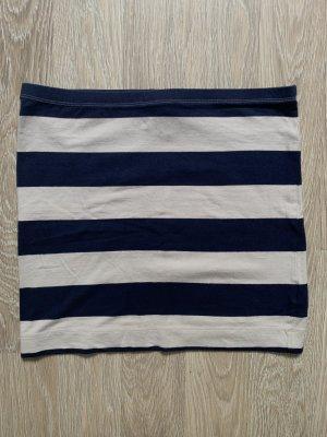 H&M Minifalda blanco puro-azul neón