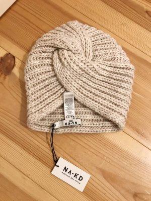 Turban Beanie Mütze NA-KD warm beige