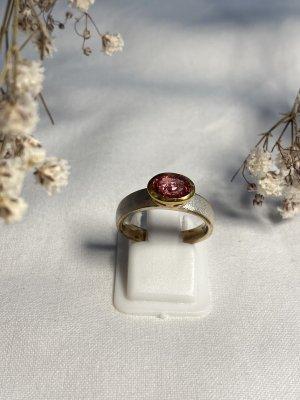 Anello d'argento rosso lampone