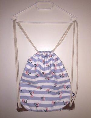 Rossmann Bolso de tela azul celeste-rosa