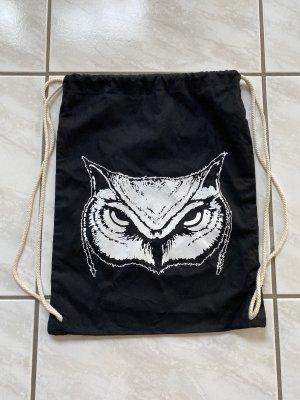 Bolso de tela negro-blanco