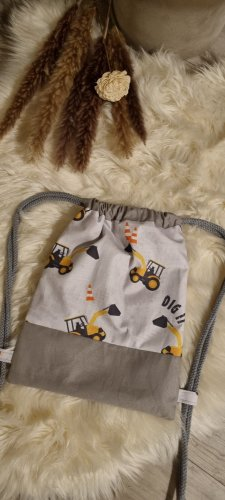 Handmade Kindergarden Backpack grey