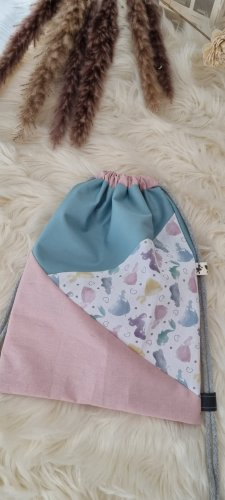Handmade Kindergarden Backpack pink-mint