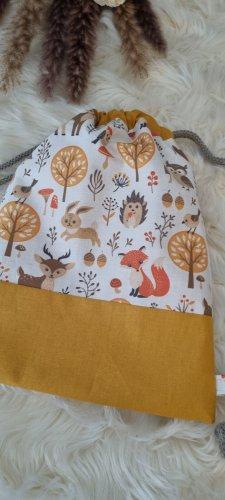 Handmade Kindergarden Backpack sand brown