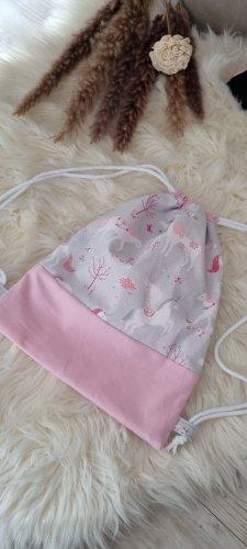 Handmade Kindergarden Backpack grey-pink