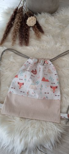 Handmade Kindergarden Backpack oatmeal-beige