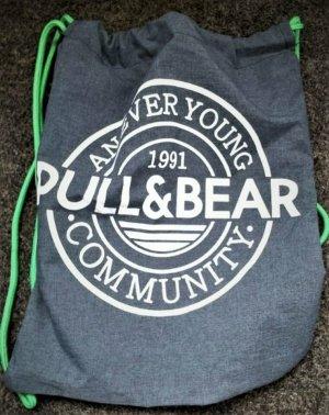Turnbeutel Sports Rucksack von PULL & BEAR Bag NEW Blau