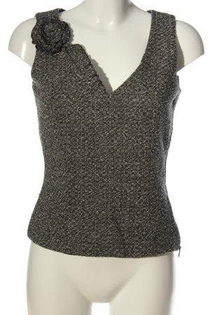 Turnover Sleeveless Blouse light grey classic style