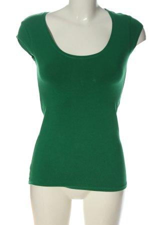 Turnover Basic-Shirt grün Casual-Look