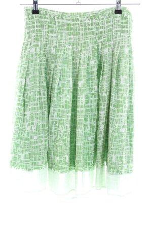 Turnover Falda a cuadros verde estampado gráfico look casual