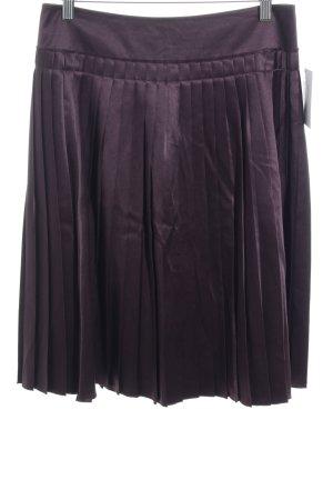 Turnover Jupe à plis brun pourpre élégant