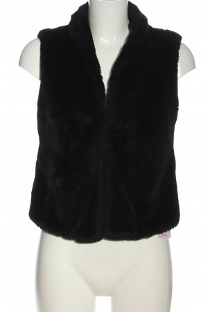 Turnover Fur vest black casual look