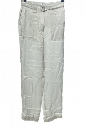 Turnover High Waist Trousers silver-colored casual look