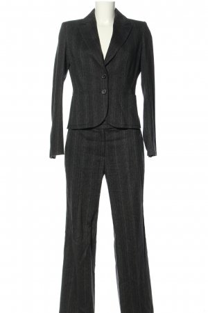 Turnover Trouser Suit light grey flecked business style