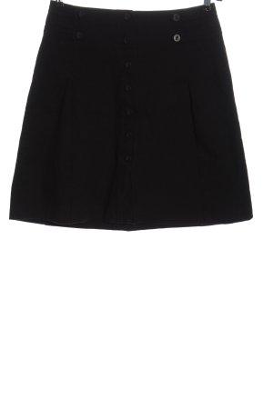 Turnover Denim Skirt black casual look