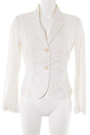Turnover Blazer en jersey blanc cassé style décontracté