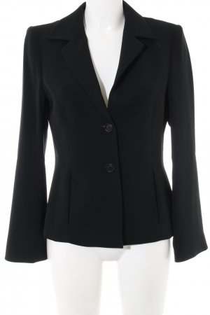 Turnover Kurz-Blazer schwarz Business-Look