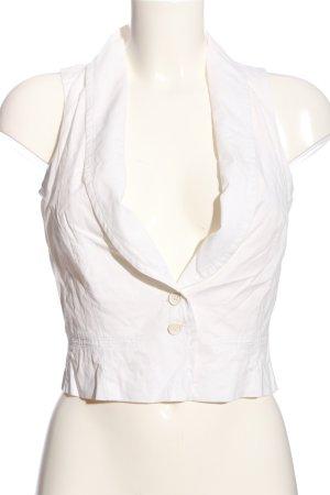 Turnover Chaleco de vestir blanco look casual