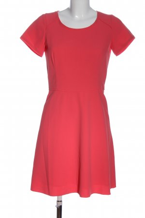 Turnover Shortsleeve Dress red casual look
