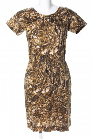 Turnover Kurzarmkleid goldfarben extravaganter Stil