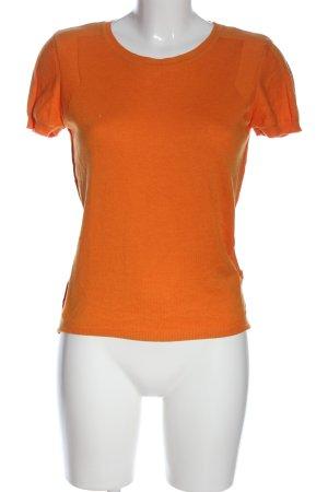 Turnover Short Sleeve Sweater light orange casual look
