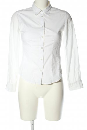 Turnover Long Sleeve Blouse white business style