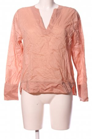 Turnover Langarm-Bluse nude Casual-Look