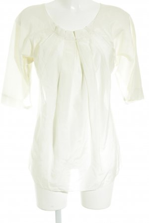 Turnover Langarm-Bluse creme Casual-Look