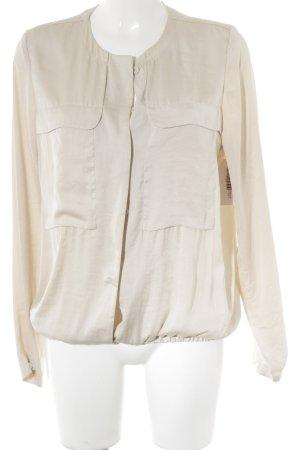 Turnover Langarm-Bluse creme Elegant