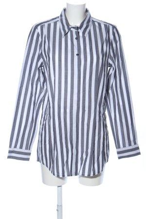Turnover Camicia a maniche lunghe bianco-nero motivo a righe stile professionale