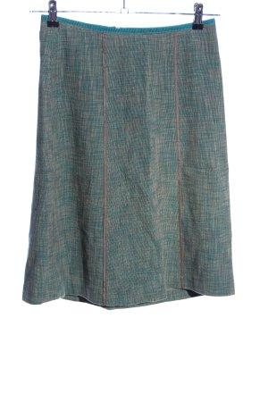Turnover Jupe en lin kaki-vert moucheté style décontracté