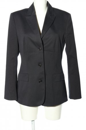 Turnover Long-Blazer schwarz Business-Look