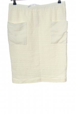 Turnover Miniskirt natural white casual look