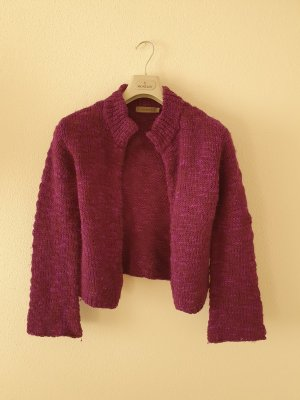 Turnover Cardigan a maglia grossa lilla-viola