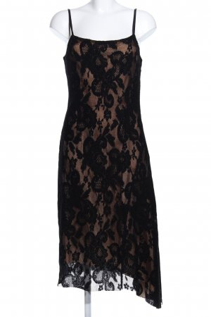 Turnover Lace Dress black elegant